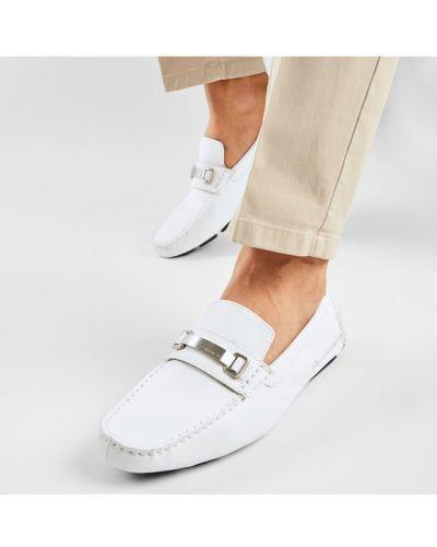 Białe mokasyny Calvin Klein
