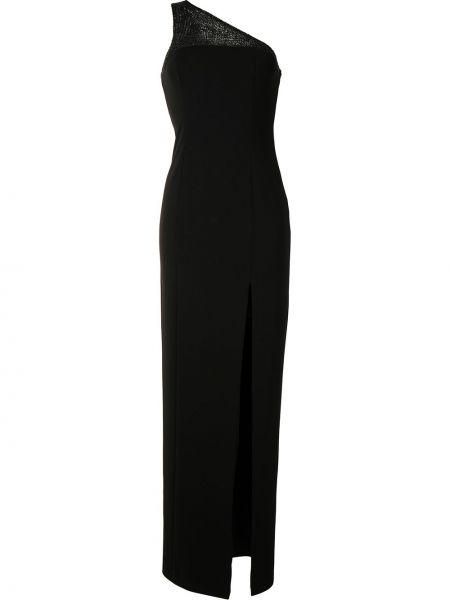 Черное платье на одно плечо без рукавов Jay Godfrey