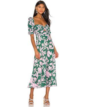 Zielona sukienka midi na co dzień Keepsake