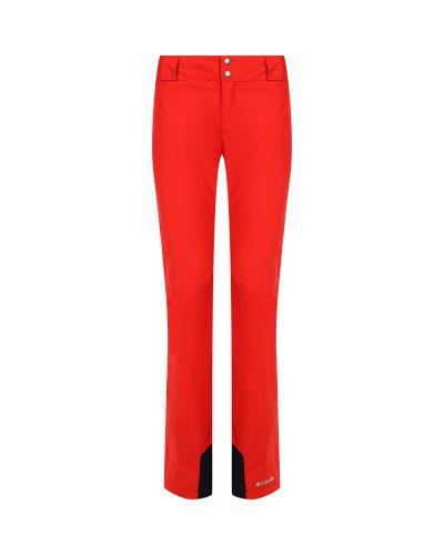 Прямые оранжевые утепленные спортивные брюки Columbia