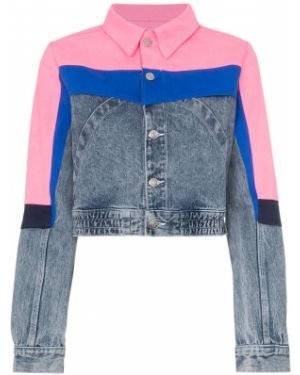 Розовая джинсовая куртка с манжетами на пуговицах Jordache