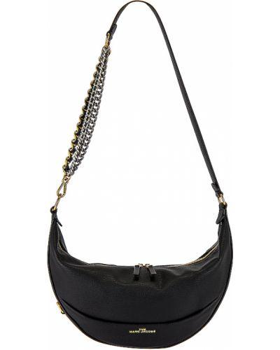 Skórzany czarny mini torebka z kieszeniami z zamkiem błyskawicznym Marc Jacobs