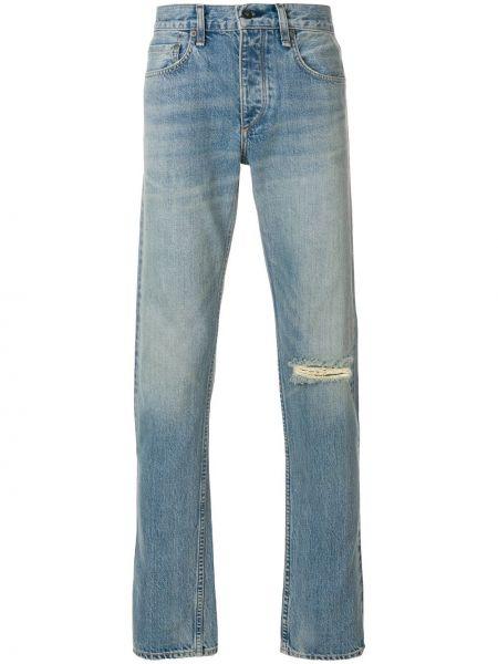 Jeansy o prostym kroju z kieszeniami obdarty Rag & Bone