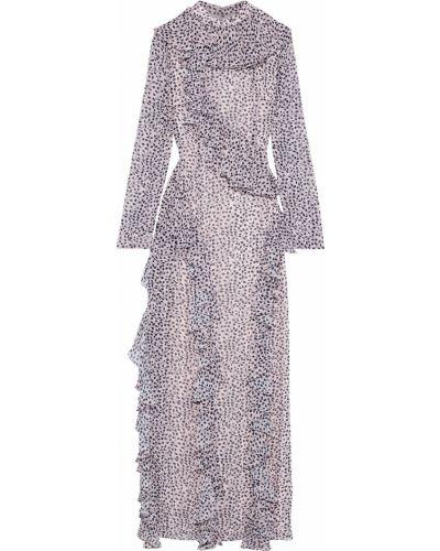 Шифоновое розовое платье макси с подкладкой Mikael Aghal