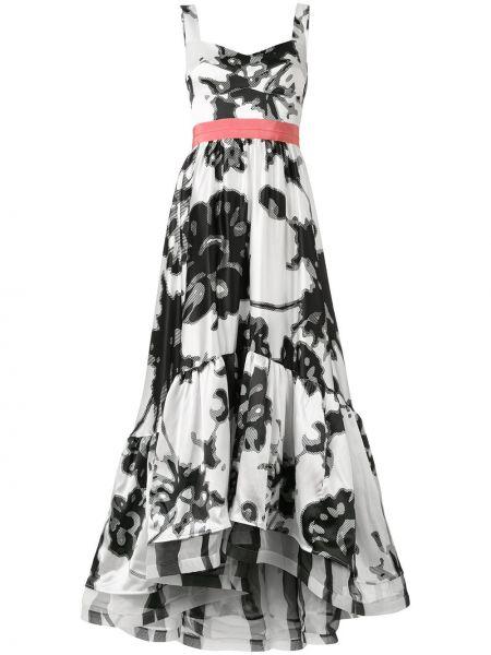 Расклешенное платье с оборками без рукавов с вырезом Silvia Tcherassi