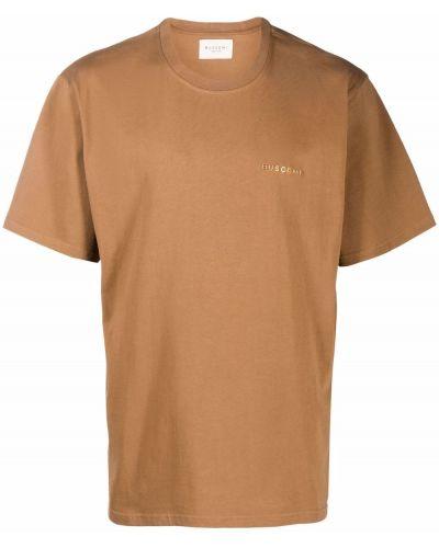 Brązowa koszulka z haftem Buscemi