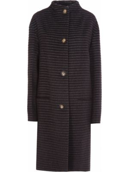 Пальто из альпаки - коричневое Agnona