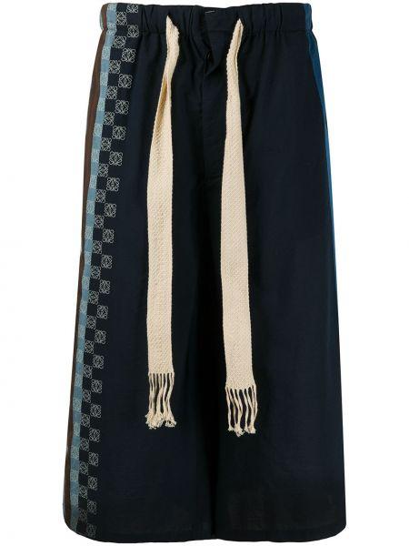 Bawełna niebieski dżinsowe szorty z kieszeniami z paskami Loewe