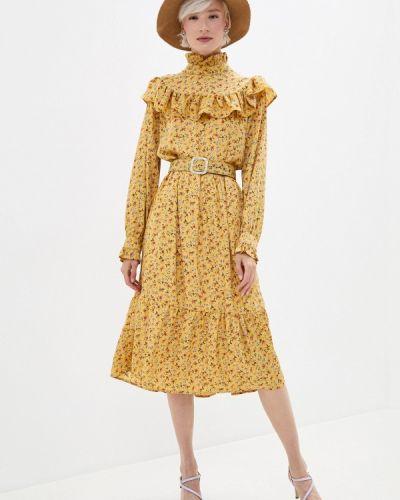 Желтое прямое платье Sister Jane