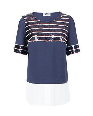Блузка винтажная - синяя Maria Grazia Severi