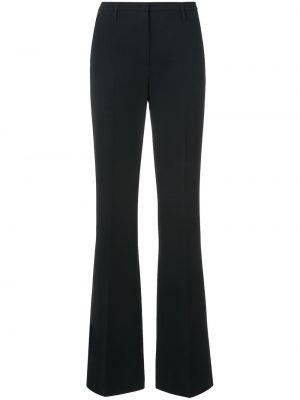 Czarne spodnie z wysokim stanem wełniane Akris