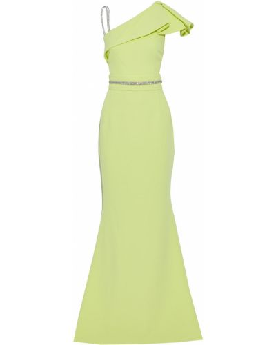 Zielona sukienka z kryształkami Safiyaa