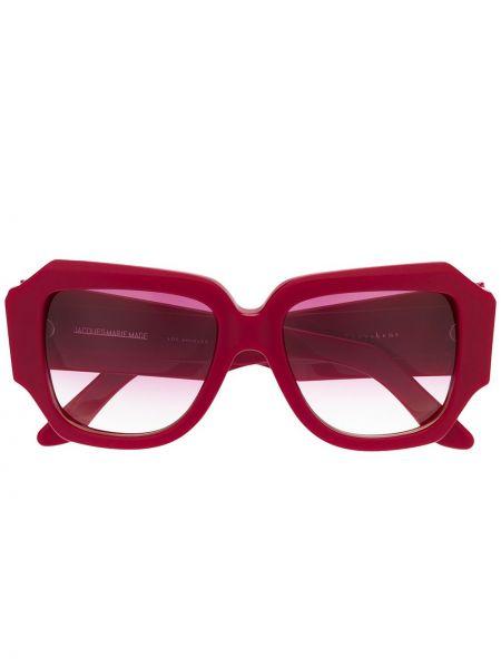 Муслиновые солнцезащитные очки хаки Olivier Theyskens