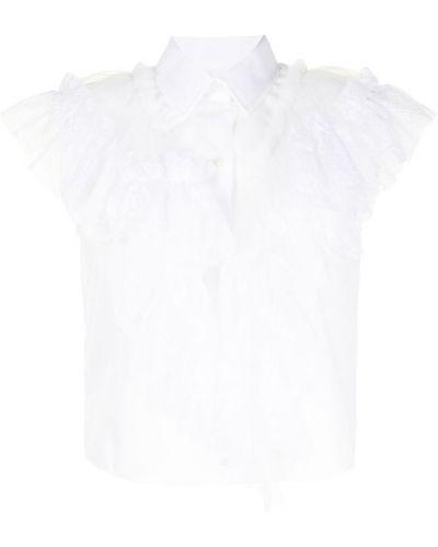 Нейлоновая белая рубашка с оборками Viktor & Rolf