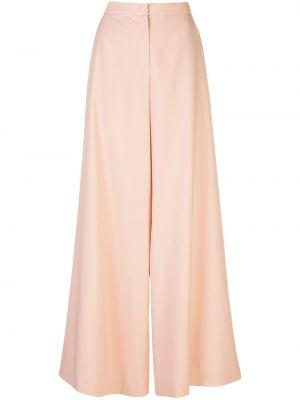 Шерстяные розовые брюки с карманами с высокой посадкой Maison Rabih Kayrouz