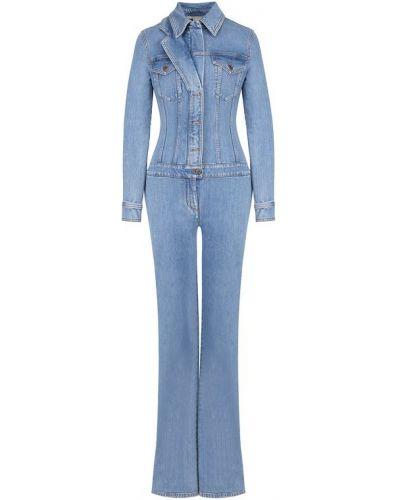 Голубой джинсовый комбинезон Stella Mccartney
