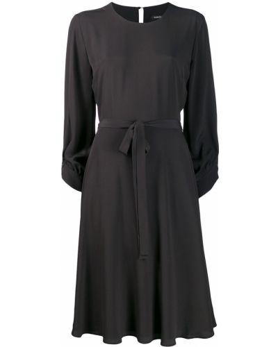 Платье миди на пуговицах - черное Luisa Cerano
