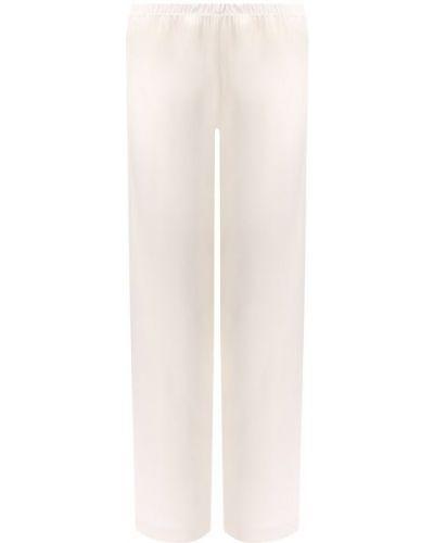 Хлопковые бежевые брюки эластичные Cotton Club