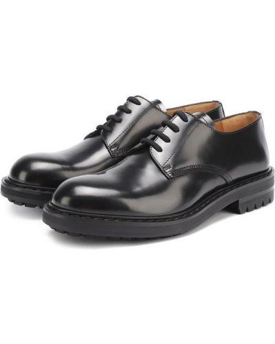 Кожаные туфли на широкую ногу Alexander Mcqueen