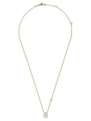 Złoty naszyjnik perły elegancki Boucheron