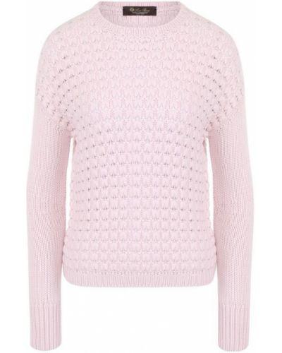 Свитер кашемировый светло-розовый Loro Piana