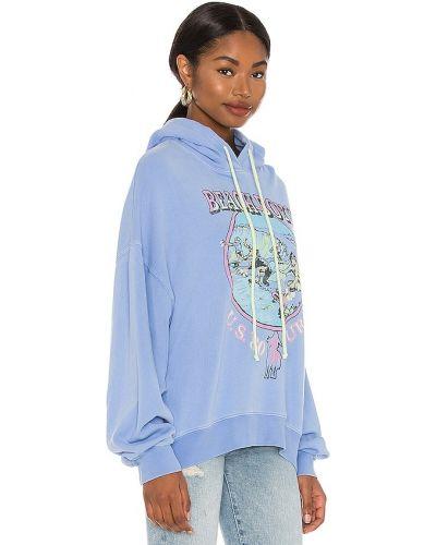 Niebieska bluza z kapturem bawełniana Daydreamer
