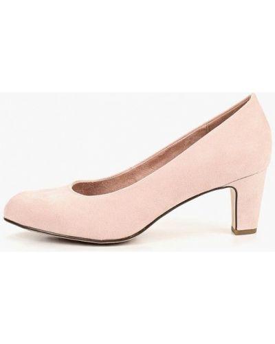 Туфли на каблуке замшевые закрытые Tamaris