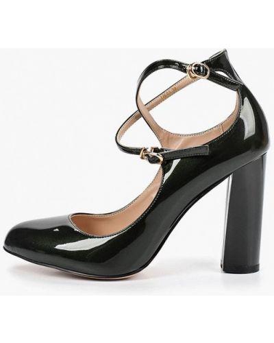 Туфли на каблуке кожаные зеленый Teetspace