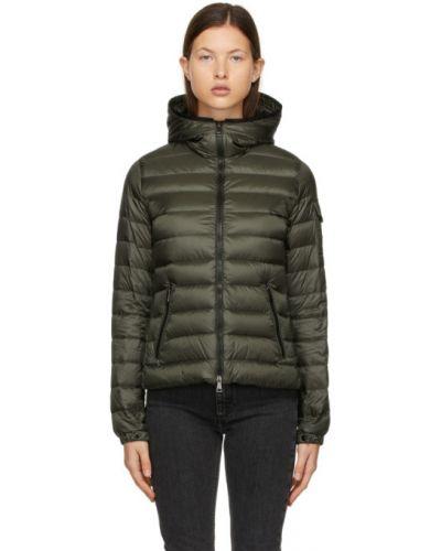 Черная стеганая пуховая длинная куртка Moncler