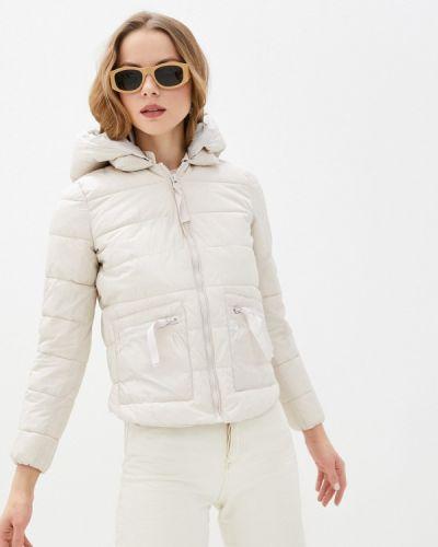 Бежевая утепленная куртка Tantra