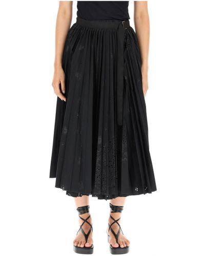 Czarna spódnica plisowana Sacai