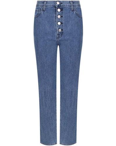 Прямые джинсы укороченные с эффектом потертости J Brand