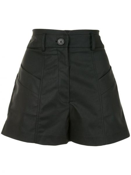Нейлоновые черные с завышенной талией шорты Manning Cartell