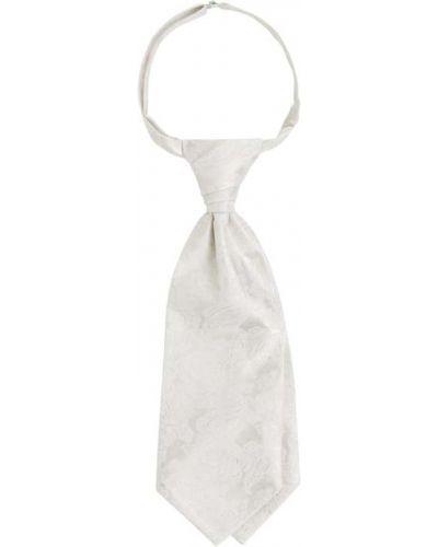 Biały krawat z wiskozy Wilvorst