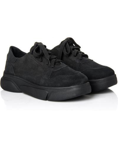 Кожаные кроссовки - черные La Rose