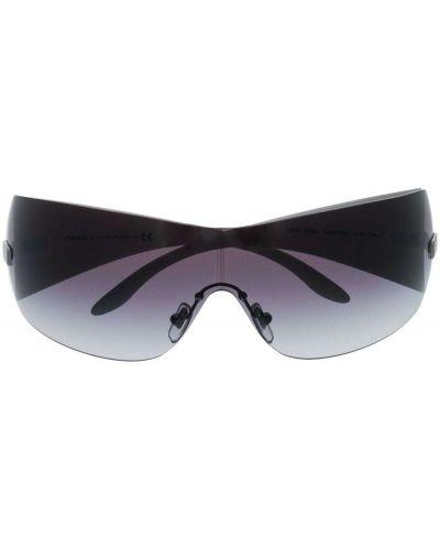 Солнцезащитные очки свободного кроя хаки Versace Eyewear