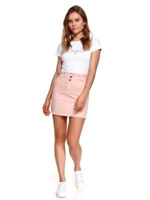 Różowa spódnica bawełniana Top Secret