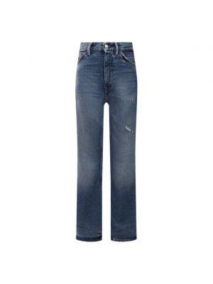Голубые хлопковые джинсы Acne Studios