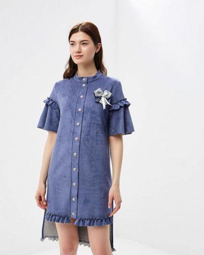 Платье весеннее синее Adzhedo