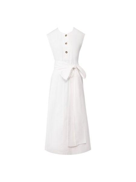 Хлопковое белое платье Escada