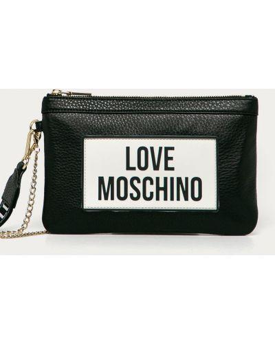 Czarna kopertówka skórzana Love Moschino