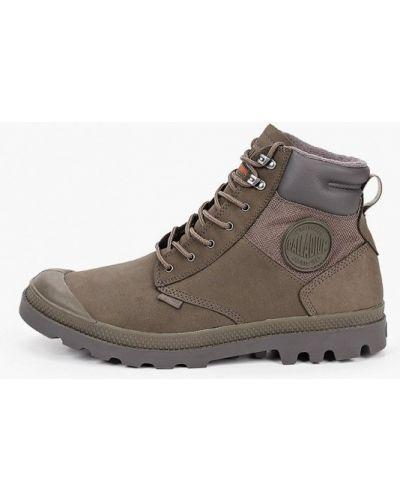 Зеленые кожаные ботинки Palladium