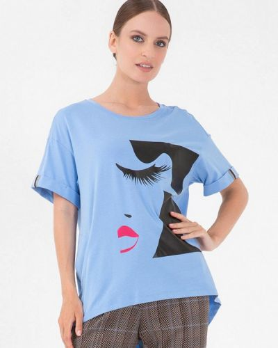 Голубая футболка осенняя Lo