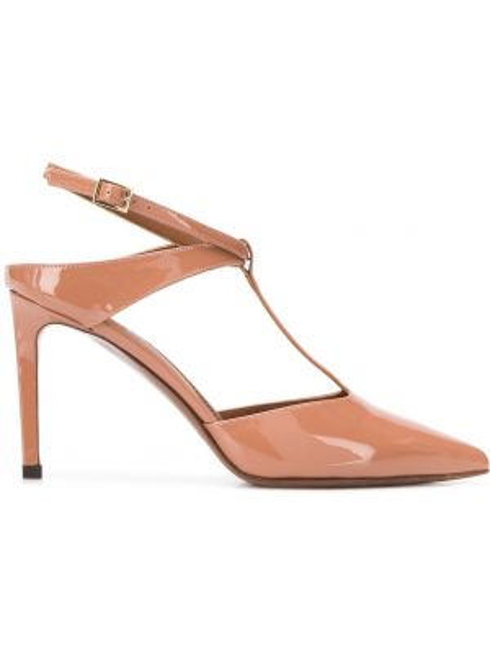 Бежевые туфли-лодочки на каблуке с острым носом L'autre Chose