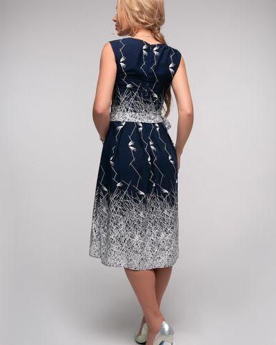 Расклешенное платье с поясом без рукавов Петербургский Швейный Дом