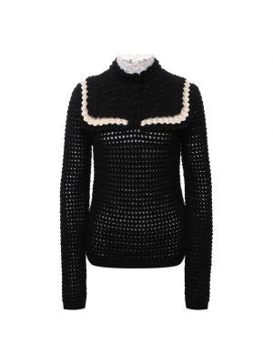 Шерстяной свитер - черный Saint Laurent