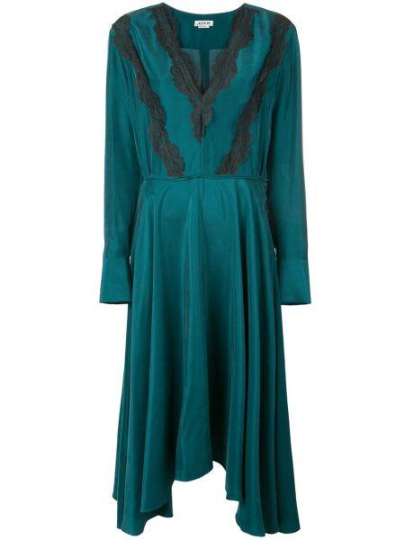 Платье миди деловое с V-образным вырезом Jason Wu