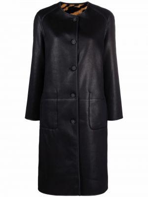 Czarny płaszcz z printem Urbancode