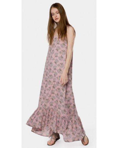 Розовое платье весеннее Mr520
