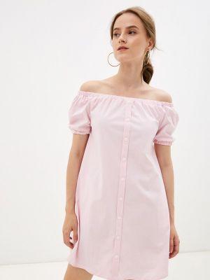 Розовое платье с открытыми плечами M,a,k You Are Beautiful